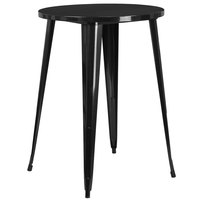 Flash Furniture CH-51090-40-BK-GG 30 inch Black Metal Indoor / Outdoor Round Bar Height Table