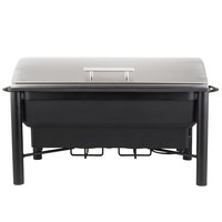 Choice 8 Qt. Wrought Iron Pillar Electric Chafer Kit with Roll Top Lid