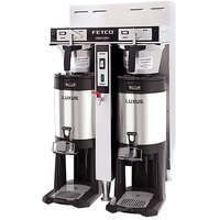 Fetco CBS-52H-15 C52046 Stainless Steel Twin Automatic Coffee Brewer - 120/208-240V
