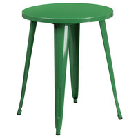 Flash Furniture CH-51080-29-GN-GG 24 inch Green Metal Indoor / Outdoor Round Cafe Table