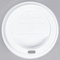 Dart Solo TL31R2-0007 10 oz. White Plastic Travel Lid - 100/Pack