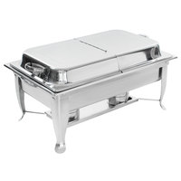 Choice 8 Qt. Full Size Folding Chafer Kit with Stainless Steel Hinged Cover