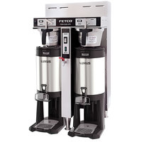 Fetco CBS-52H-20 C53026 Stainless Steel Twin Automatic Coffee Brewer - 120/208-240V