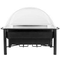 Choice 8 Qt. Wrought Iron Pillar Electric Chafer Kit with Clear Dome Cover