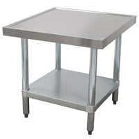 Advance Tabco AG-MT-303 30 inchx 36 inch Stainless Steel Mixer Table with Galvanized Undershelf
