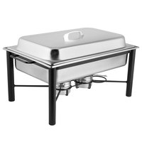 Choice 8 Qt. Wrought Iron Pillar Chafer Kit with Stainless Steel Cover and Handle