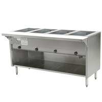 Eagle Group HT4OBE Spec Master Series Electric Steam Table with Enclosed Base 3000W - Four Pan - Open Well, 240V