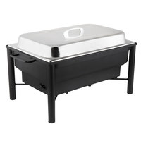 Choice 8 Qt. Wrought Iron Pillar Electric Chafer Kit with Stainless Steel Cover and Handle