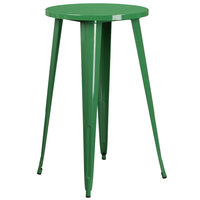 Flash Furniture CH-51080-40-GN-GG 24 inch Green Metal Indoor / Outdoor Round Bar Height Table