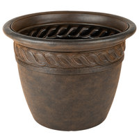 Grosfillex US828102 Cortina 20 inch Rust Resin Planter