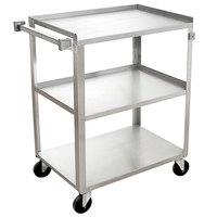 Channel US1524-3 Three Shelf Utility Cart - 27 1/4 inch x 16 inch x 34 inch
