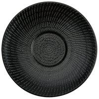 Oneida L6250000500 Urban 5 7/8 inch Black Porcelain Saucer - 48/Case