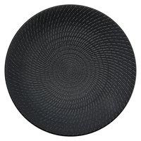 Oneida L6250000152C Urban 10 7/8 inch Black Porcelain Coupe Plate - 24/Case