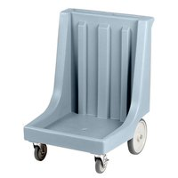 Cambro CD2020HB401 Slate Blue Camdolly Dish Rack / Glass Rack Dolly with 10 inch Rear Wheels - 350 lb.