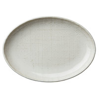 Oneida L6800000325 Knit 7 1/2 inch Porcelain Oval Plate - 48/Case