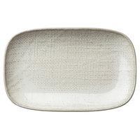 Oneida L6800000336 Knit 6 3/4 inch Porcelain Rectangular Plate - 48/Case