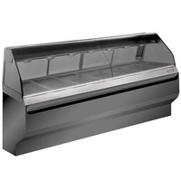 Alto-Shaam ED2SYS-96/PL BK Black Heated Display Case with Curved Glass and Base - Left Self Service 96 inch