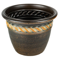 Grosfillex US829102 Cortina 16 inch Rust Resin Planter