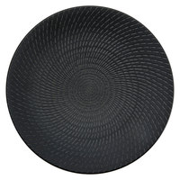 Oneida L6250000165C Urban 12 1/4 inch Black Round Porcelain Coupe Plate   - 12/Case