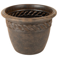 Grosfillex US829116 Cortina 16 inch Light Bronze Resin Planter