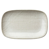 Oneida L6800000348 Knit 10 1/2 inch Porcelain Rectangular Plate - 24/Case