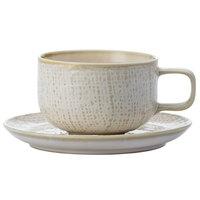 Oneida L6200000500 Knit 5 1/2 inch Porcelain Saucer - 48/Case