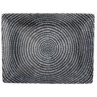 Oneida L6350000865 Urban Storm 12 inch Porcelain Sushi Plate / Rectangular Platter - 12/Case