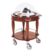 Geneva 70021 Round Bordeaux Cheese / Dessert Serving Cart with Adjustable Dome