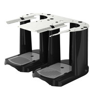 Fetco A148 Double Black and Stainless Steel Satellite Coffee Server Stand