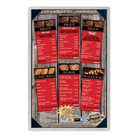 11 inch x 17 inch Menu Solutions ALSIN17-PIX Single Panel Brushed Aluminum Menu Board with Picture Corners