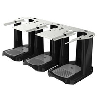 Fetco A152 Triple Black and Stainless Steel Satellite Coffee Server Stand
