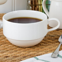 Oneida L5600000521 Current 8.5 oz. Warm White Porcelain Cup - 48/Case
