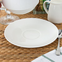 Oneida L5600000504 Current 6 1/4 inch Warm White Porcelain Saucer - 48/Case