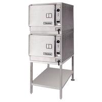 Cleveland 2-22CET33.1 SteamChef 3 Double Deck 6 Pan Electric Floor Steamer Set - 440/480V, 3 Phase, 24 kW