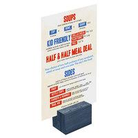 Menu Solutions WDBLOCK-REC 2 inch Denim Wood Rectangular Card Holder
