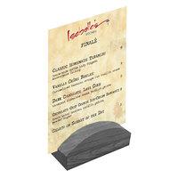 Menu Solutions WDBLOCK-RND 4 inch Ash Wood Rounded Card Holder