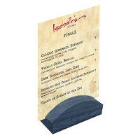 Menu Solutions WDBLOCK-RND 4 inch Denim Wood Rounded Card Holder