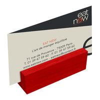 Menu Solutions WDBLOCK-MINI 3 inch Berry Wood Mini Card Holder