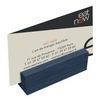Menu Solutions WDBLOCK-MINI 3 inch Denim Wood Mini Card Holder