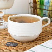 Oneida L5650000520 Manhattan 8.5 oz. Warm White Porcelain Cup - 48/Case