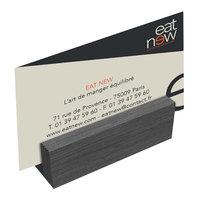 Menu Solutions WDBLOCK-MINI 3 inch Ash Wood Mini Card Holder