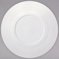 Oneida L5650000139C Manhattan 9 inch Warm White Porcelain Wide Rim Coupe Plate - 24/Case