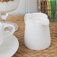 Oneida L6050000802 Zen 4 oz. Warm White Porcelain Creamer   - 48/Case