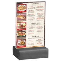 Menu Solutions WBCL-A 4 inch x 6 inch Clear Acrylic Table Tent with Solid Ash Wood Base