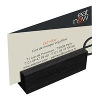 Menu Solutions WDBLOCK-MINI 3 inch Black Wood Mini Card Holder