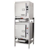Cleveland (2)1SCEMCS SteamCub Double Deck 10 Pan Electric Countertop Steamer Set - 440/480V, 3 Phase, 12 kW