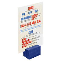 Menu Solutions WDBLOCK-REC 2 inch True Blue Wood Rectangular Card Holder