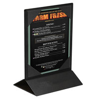 Menu Solutions TT2SPIX-57 5 inch x 7 inch Black Two-Sided Table Tent with Picture Corners