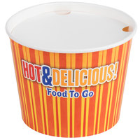 Choice 3.5 lb. Hot Food Bucket with Lid - 35/Pack