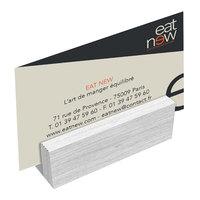 Menu Solutions WDBLOCK-MINI 3 inch White Wash Wood Mini Card Holder